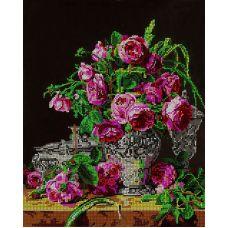 Схема Принт для вышивки бисером Букет роз, 27x33, Вышиваем бисером