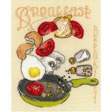 Набор для вышивания крестом Завтрак, 15x18, Риолис, Сотвори сама