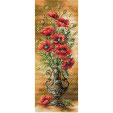 Рисунок на канве Пылающие маки, 40x90, Матренин посад