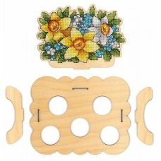 Набор для вышивания крестом Подставка Цветочная под яйца, 16x13x13, Щепка (МП-Студия)