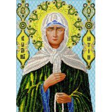 Набор для вышивания Святая Матрона Московская, 19x27, Вышиваем бисером