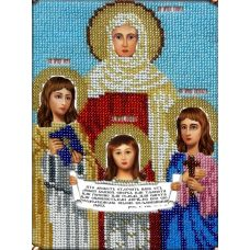 Набор для вышивания Святые Вера, Надежда, Любовь и Софья, 14x19, Вышиваем бисером