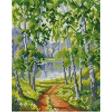 Алмазная мозаика Из рощи, 20x25, полная выкладка, Белоснежка