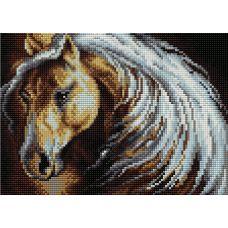 Алмазная мозаика на магнитной основе Густая грива, 20x28,5, полная выкладка, Вышиваем бисером