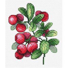 Набор для вышивания крестом Брусничный аромат, 11x10, Жар-Птица (МП-Студия)