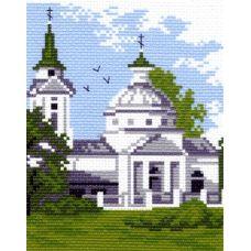 Рисунок на канве Церковь, 16x20, Матренин посад