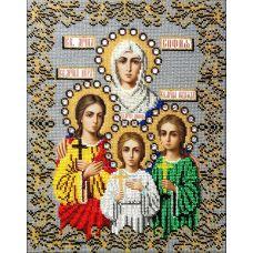 Набор для вышивания в подарочной упаковке святые вера надежда любовь и софья (подарочная упаковка), 26x34, Вышиваем бисером