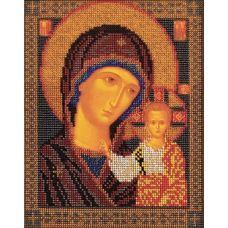 Набор для вышивания бисером Казанская Богородица, 19x23, Кроше