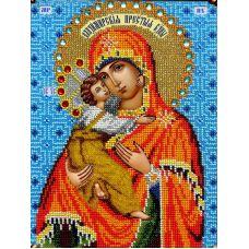 Набор для вышивания Владимирская Богородица, 19x25, Вышиваем бисером