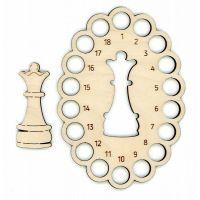 Органайзер для ниток + 1 бобина Шахматная королева, 10x14, Щепка (МП-Студия)