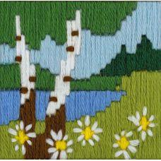 Набор для вышивания крестом Лесное озеро, 6x6, Риолис, Сотвори сама