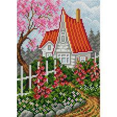 Алмазная мозаика на магнитной основе Весенний пейзаж, 20x28, полная выкладка, Вышиваем бисером