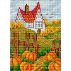 Алмазная мозаика на магнитной основе Осенний пейзаж, 20x28, полная выкладка, Вышиваем бисером
