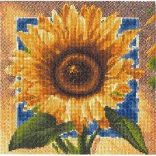 Набор для вышивания Золотые лепестки, 20x20, Палитра