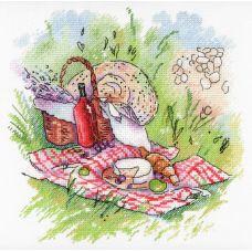 Набор для вышивания крестом Прованский пикник, 20x20, МП-Студия, Акварель