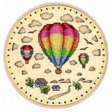 Набор для вышивания крестом Воздушное путешествие, 18x18, Щепка (МП-Студия)