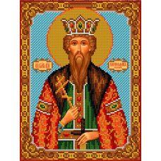 Набор для вышивания Святой Вячеслав, 20x26,5, Вышиваем бисером