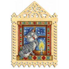 Набор для вышивания крестом Зимний вечер, 19x14 (11x10), Щепка (МП-Студия)