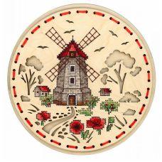 Набор для вышивания крестом Сельская мельница, 18x18, Щепка (МП-Студия)