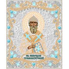 Ткань для вышивания бисером Святой Спиридон Тримифутинский, 15x18, Конек
