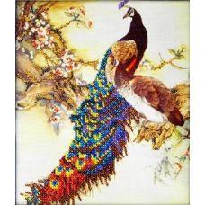 Набор для вышивания Павлин, 19x23, Вышиваем бисером