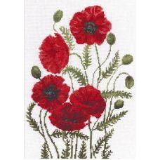 Набор для вышивания Луговые маки, 24x33, Палитра