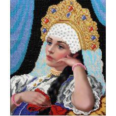Набор для вышивания Красавица, 26x32, Вышиваем бисером