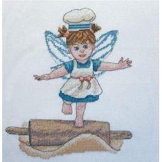 Набор для вышивания крестом Фея пышного теста, 18x21, НеоКрафт