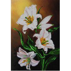 Схема Принт для вышивки бисером Роскошные лилии, 27x38, Вышиваем бисером