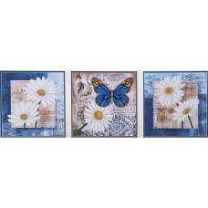 Набор для вышивания бисером Цветы любви (3шт. 26, 26,5x26,5, Магия канвы