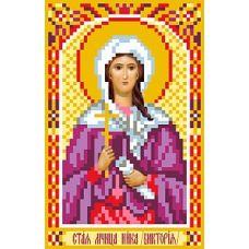 Рисунок на шелке Святая Ника (Виктория), 22x25 (9x14), Матренин посад