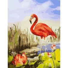 Живопись по номерам Красный фламинго, 40x50, Paintboy, GX25169