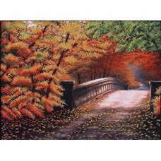 Набор для вышивания бисером Осенний мостик, 40x30, Магия канвы