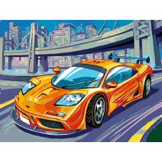 Живопись по номерам McLaren F1 GTR, 30x40, Белоснежка