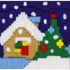 Набор для вышивания крестом Новогодний вечер, 6x6, Риолис, Сотвори сама