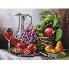 Алмазная мозаика Натюрморт с фруктами, 30x40, полная выкладка, Белоснежка