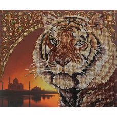 Набор для вышивания бисером Тигр, 23x28, МП-Студия