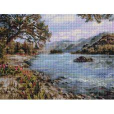 Алмазная мозаика Горный Алтай, 30x40, полная выкладка, Белоснежка
