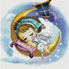 Алмазная мозаика Нежный сон, 30x30, полная выкладка, Белоснежка