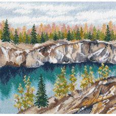 Набор для вышивания крестом Мраморный каньон Рускеала, 20x20, Овен