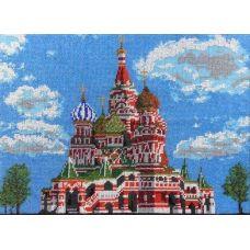 Набор для вышивания Храм Василия Блаженного, 27x38, Вышиваем бисером