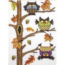 Набор для вышивания крестом Осенний совопад, 15x20, НеоКрафт