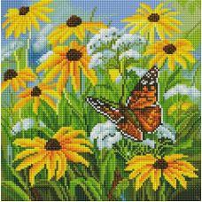 Алмазная мозаика Цветочная поляна, 30x30, полная выкладка, Белоснежка