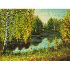 Алмазная мозаика Родные места, 30x40, полная выкладка, Белоснежка