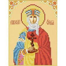 Набор для вышивания бисером Святая Ольга, 12,7x16,8, Каролинка