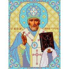 Набор для вышивания бисером Святой Николай Чудотворец, 19x24,5, Каролинка