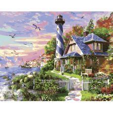 Живопись по номерам Чайки у моря, 40x50, Paintboy, GX33476
