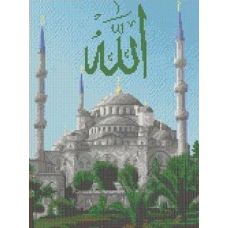 Ткань для вышивания бисером Голубая мечеть, 27,7x34, Каролинка