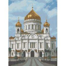 Рисунок на канве Храм Христа Спасителя, 23x30, Каролинка
