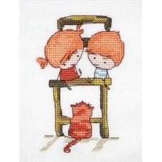 Набор для вышивания крестом Ребята, 7x11, НеоКрафт